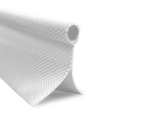 Keder 8mm Bead, double 25mm flap, 2200 material,  White