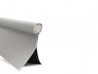 Keder 9mm Bead, 25mm Double flap, 2200 material, Silver/Opaque