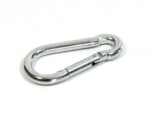 Carabiner zinc plated mild steel 10mm