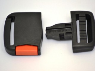 Superstrong 40mm Side Release Buckle Black (Red Button)