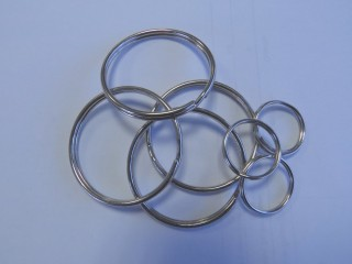 Split 'O' ring, nickel plated steel, per 100