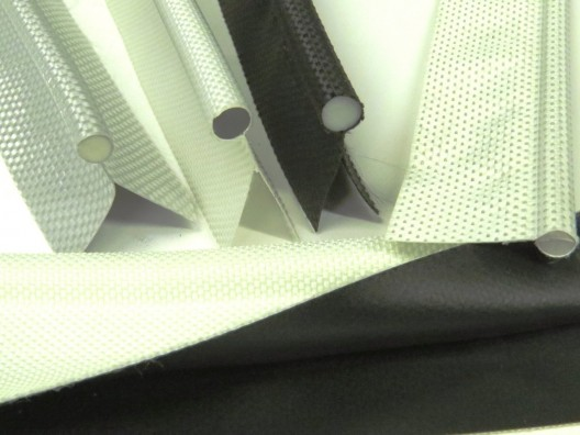 Keder 13mm Bead, 40mm Double flap, 12/12 material White