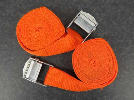 2m tie down straps with metal cam buckle, Pack of 2