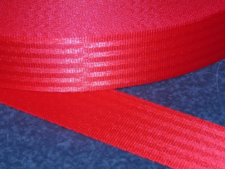 Yellow Polyester webbing Seat belt webbing soft and very strong 47mm