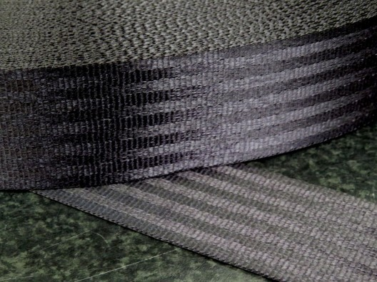 47mm Polyester Seat Belt Webbing, Black, 100m