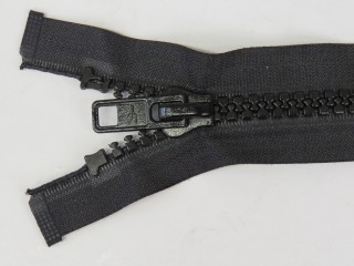Moulded Zip 9mm Open Ended with a Single Tab, Auto-lock Slider