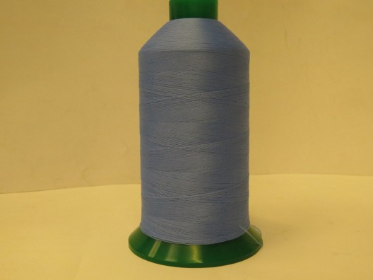 Texturised Polyester M80 Thread 5000m spool, Light Blue