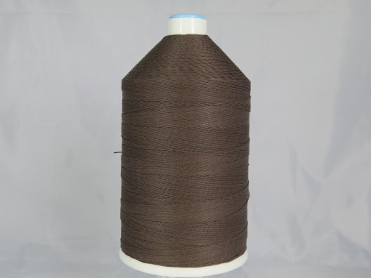 Polyester/Cotton Corespun Glace Thread M12 Brown