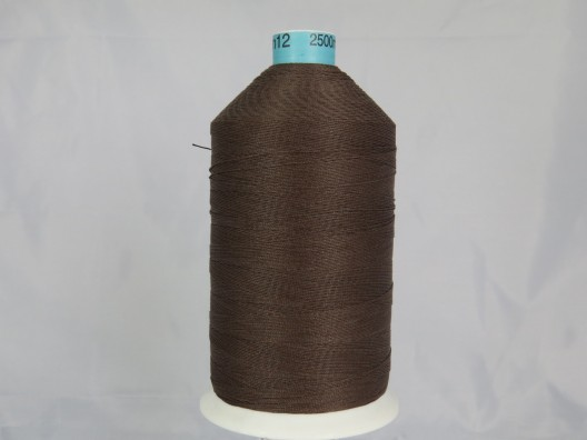 Polyester/Cotton Corespun Glace Thread M12 Dark Brown