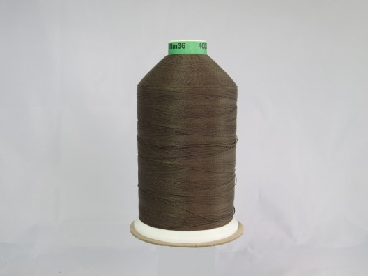 Polyester/Cotton Corespun Glace Thread M36 Brown