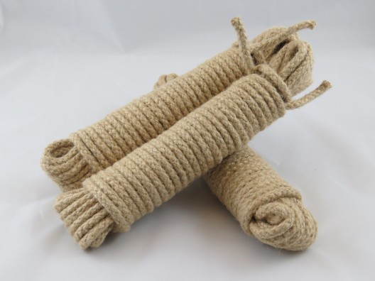 No4 6mm Jute Sash Cord, 8 X 12.5m hanks