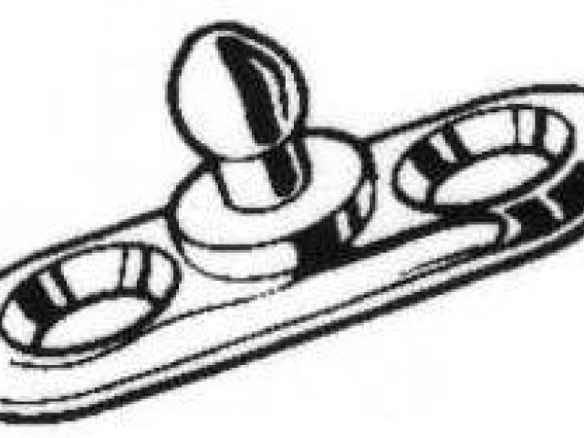 Pull Up Fastener (TOMAX) stud with 2 fixing holes, per 100