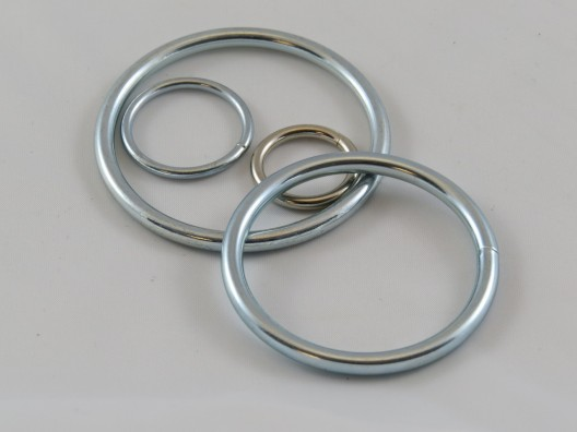 'O' Ring nickel plated, welded steel, per 100