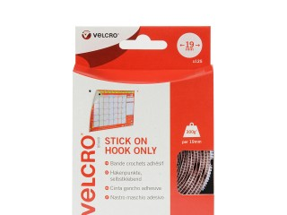VELCRO® Brand 19mm Stick On Hook Coins x 125 - White