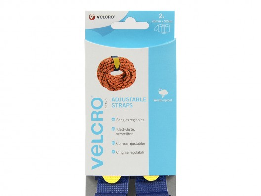 VELCRO® Brand 25mm x 92cm Adjustable Strap (set of 2)- Blue