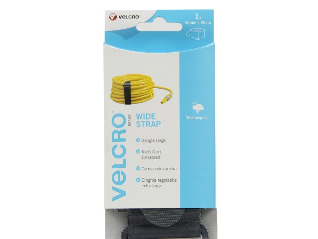 VELCRO® Brand 50mm x 92cm Adjustable Wide Strap - Black